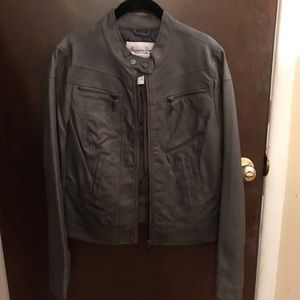 American Rag Faux Leather Jacket - Size L - Gray